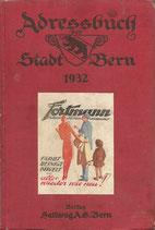 Adressbuch der Stadt Bern 1932