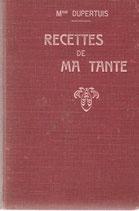 Les recettes de ma tante Neuchâtel 1907