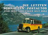 Die letzten Schnauzen-Postautos und ihre Vorgänger seit 1902