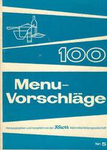 100 Menü-Vorschläge ca.1960