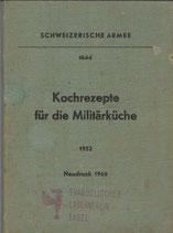 Kochrezepte für die Militärküche 1952