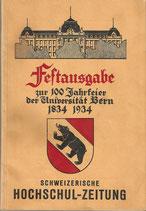 Festausgabe 100 Jahrfeier Universität Bern 1934