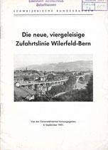 Die neue viergeleisige Zufahrtslinie Wilerfeld-Bern