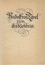 Rudolf von Tavel zum Gedächtnis