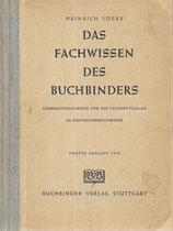 Das Fachwissen des Buchbinders 1950