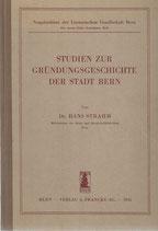 Studien zur Gründungsgeschichte der Stadt Bern