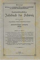 Landwirtschaftliches Jahrbuch der Schweiz 1921