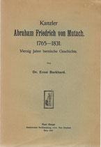 Kanzler Abraham Friedrich von Mutach 1765-1831