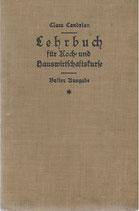Lehrbuch für die Koch- und Hauswirtschaftskurse 1930