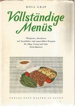Vollständige Menüs von Rosa Graf 1948