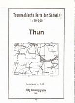 Topographische Karte Thun 1950