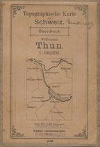 Waffenplatz Thun Karte 1903