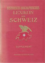 Historisch-biographisches Lexikon der Schweiz 1934