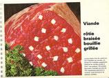 Viande rôtie, braisée, bouillie, grillée