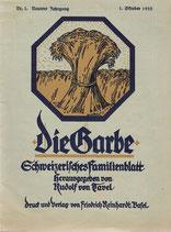 Die Garbe Rudolf von Tavel 1925