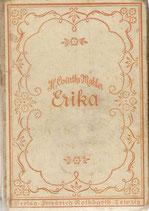 Erika und der Einbrecher Roman 1932
