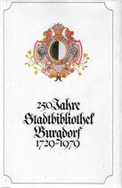 250 Jahre Stadtbibliothek Burgdorf 1729-1979
