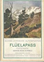 Flüelapass Poststrasse Davos-Süs-Zernez 1935