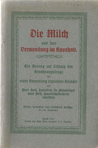 Die Milch und ihre Verwendung im Haushalt 1915