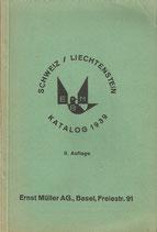 Schweiz Liechtenstein Briefmarken Katalog 1939