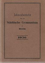 Jahresbericht über das städtische Gymnasium in Bern 1936