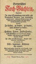 Bernisches Kochbüchlein 1749