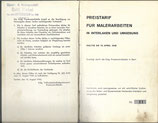 Preistarif für Malerarbeiten in Interlaken und Umgebung 1945
