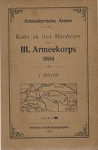 Karte zu den Manövern 1904