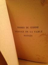 Termes De Cuisine Service De La Table Sauce ca.1934