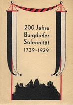 200 Jahre Burgdorfer Solennität 1729-1929