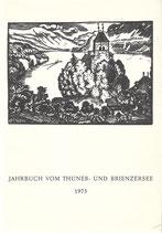 Jahrbuch vom Thuner- und Brienzersee 1973