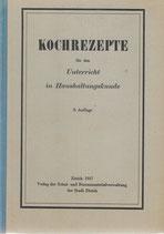 Kochrezepte 1937