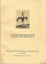 Festschrift Sekundarschulhaus-Einweihung Flaach 1953