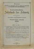 Landwirtschaftliches Jahrbuch der Schweiz 1920 (2)