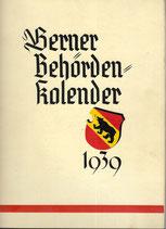 Berner Behördenkalender 1939