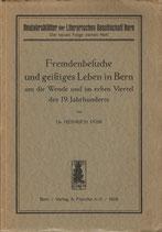 Fremdenbesuche und geistiges Leben in Bern 1926