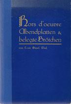 Kalte und warme Hors d'œuvre-Gerichte und Abendplatten 1929