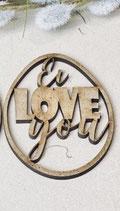 Holzschriftzug Ostern, Ei love you (ca. 4cm)