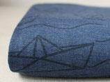 Schifffahrt auf Nachtblau Wolle/Seide (25cm)