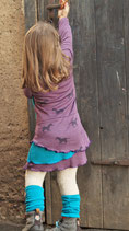 Wildpferde auf Beere Wolle/Seide (25cm)