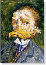 """Self-portrait with a beak"""