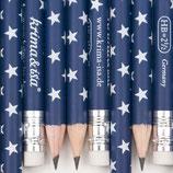Bleistift Sterne dunkelblau