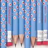 Bleistift Tuper blau-rot