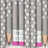 Bleistift Tupfer grau-rosa