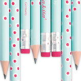 Bleistift Tupfer türkis-rosa