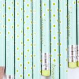 Bleistift Tupfer türkis-grün