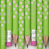 Bleistift Tupfer grün-rosa