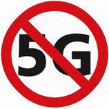 """32 runde Sticker """"Stopp 5G"""" D3cm"""