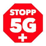 "20 runde Sticker ""Stopp 5G Schweiz"" D9.5cm"