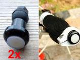 LED Licht / Lenkerendkappen für Rollstuhl, Rollator, Fahrrad, Trotti